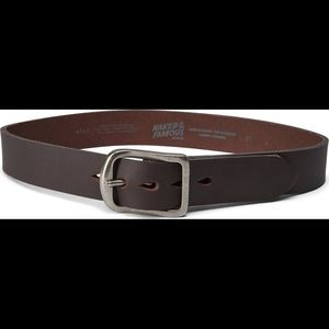 Naked & Famous Thick Brown Leather Belt Sz 36